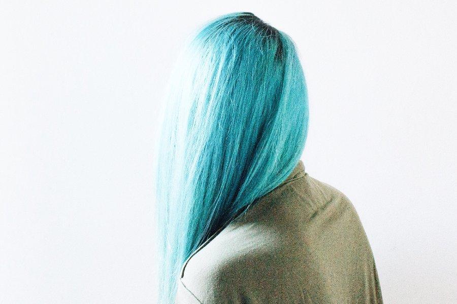 colorazione capelli blu